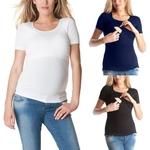 V-tements-pour-femmes-enceintes-maternit-couleur-unie-manches-courtes-grossesse-soins-infirmiers-b-b-hauts
