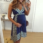 Mode-femmes-enceintes-robes-de-maternit-soins-infirmiers-rayure-allaitement-t-dos-nu-Mini-robe-v