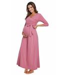 Longues-robes-de-maternit-Maxi-robe-de-grossesse-pour-Photo-Shoot-robe-d-allaitement-avec-ceintures