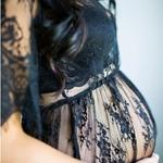 Robe-en-dentelle-accessoires-de-photographie-de-maternit-robes-de-maternit-pour-s-ance-Photo-Maxi