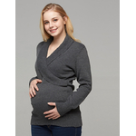 Pull-maternit-femme-v-tements-enceinte-pull-col-rabattu-pull-allaitement-grossesse-haut-d-hiver