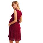 Iiniim-femmes-maternit-robe-l-gante-dentelle-florale-superposition-b-b-douche-f-te-Cocktail-robe