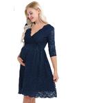 Iiniim-femmes-maternit-robe-l-gante-dentelle-florale-superposition-col-en-V-demi-manches-enceinte-photographie