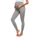Maternit-femmes-maternit-pleine-longueur-fran-ais-Terry-Secret-Fit-ventre-Leggings-lastique-Stretch-doux-sport