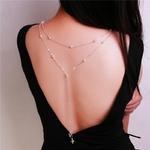 Nouveau-design-verre-cristal-pendentif-perle-toile-de-fond-collier-dos-profond-V-mari-e-bijoux