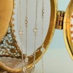 Mode-nouveau-Design-cristal-toile-de-fond-collier-cha-ne-arri-re-or-une-couleur-argent