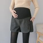 922-automne-hiver-mode-cor-enne-Shorts-de-maternit-en-laine-taille-lastique-ventre-l-che