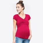 Col-en-v-v-tements-de-maternit-allaitement-hauts-manches-courtes-T-Shirts-de-grossesse-v