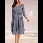 robe a pois gris bleu