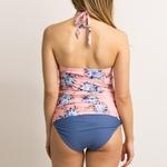 Maternit-Tankini-femmes-imprimer-bretelles-pansement-maillot-de-bain-suspendu-cou-Bikinis-solide-nouvelle-mode-maillot