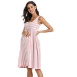 Robe-de-maternit-sans-manches-V-tements-pour-femmes-pre-gancy-d-bardeur-col-rond-ray