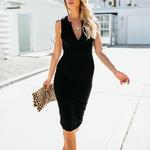 robe droite noire 1