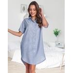 chemise maternite bleue