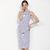 Robe-d-contract-sans-manches-Robe-pour-femmes-enceintes-longueur-genoux-rayures-en-coton