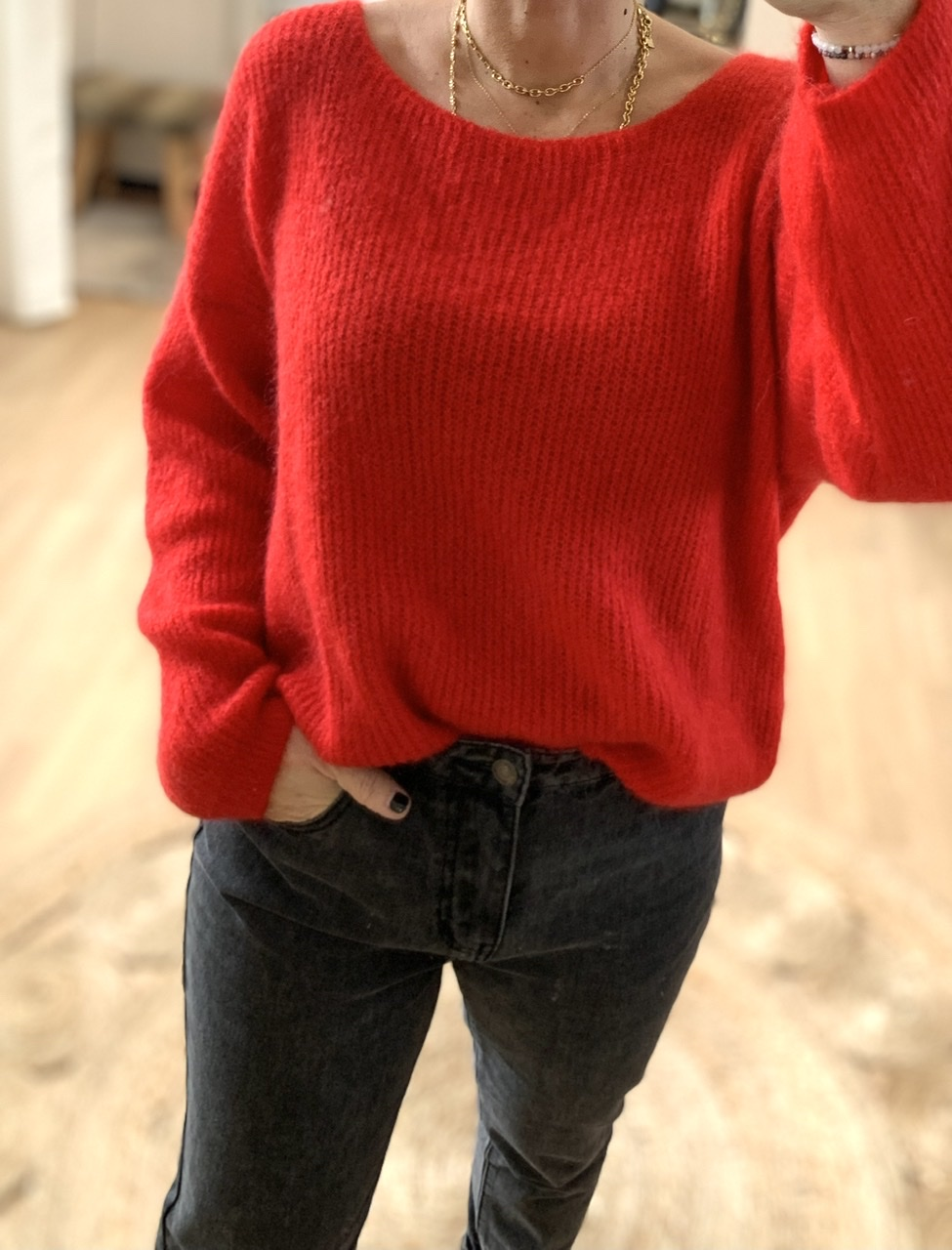 Pull doudou rouge