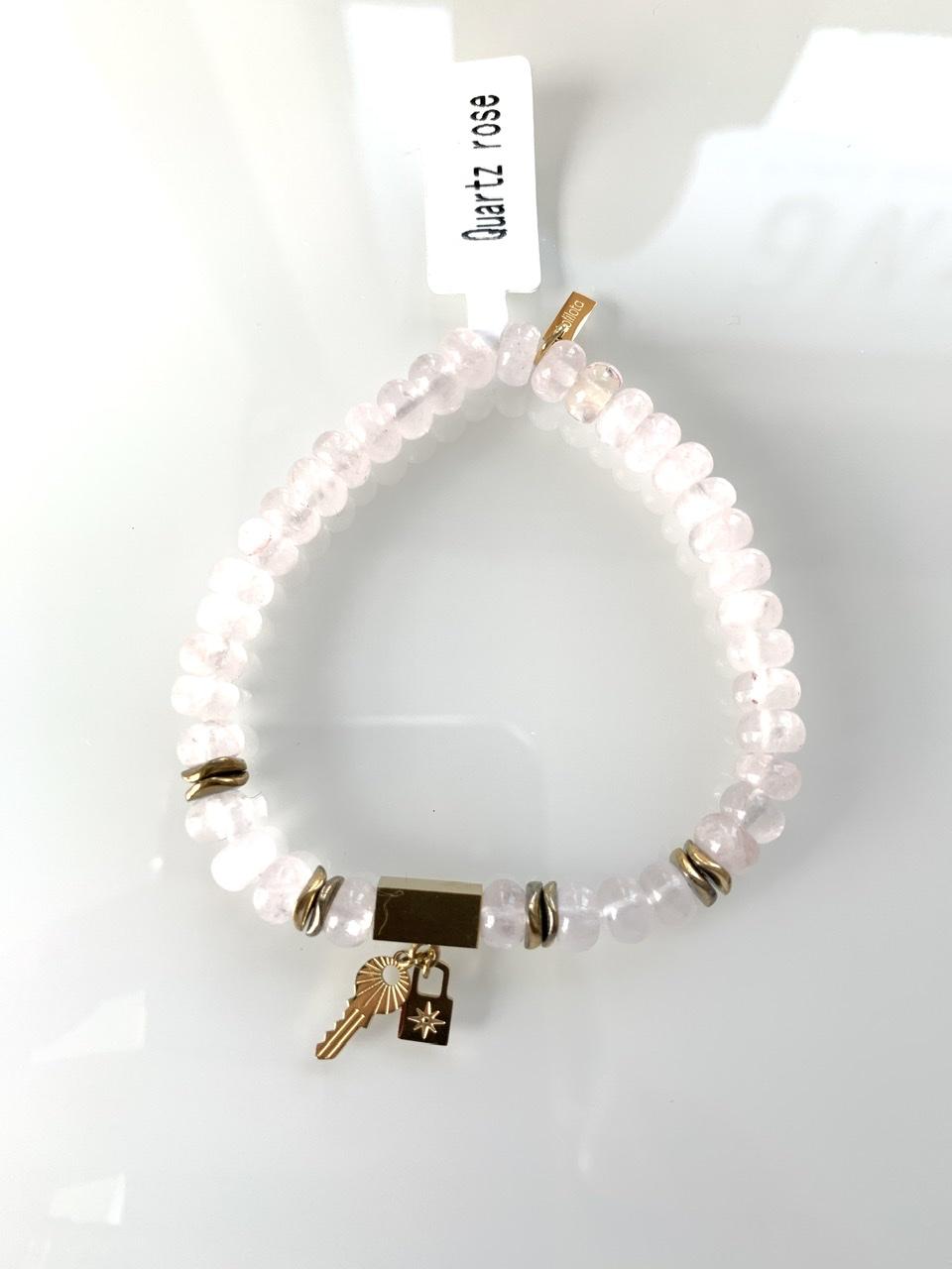 Bracelet perle rose pale