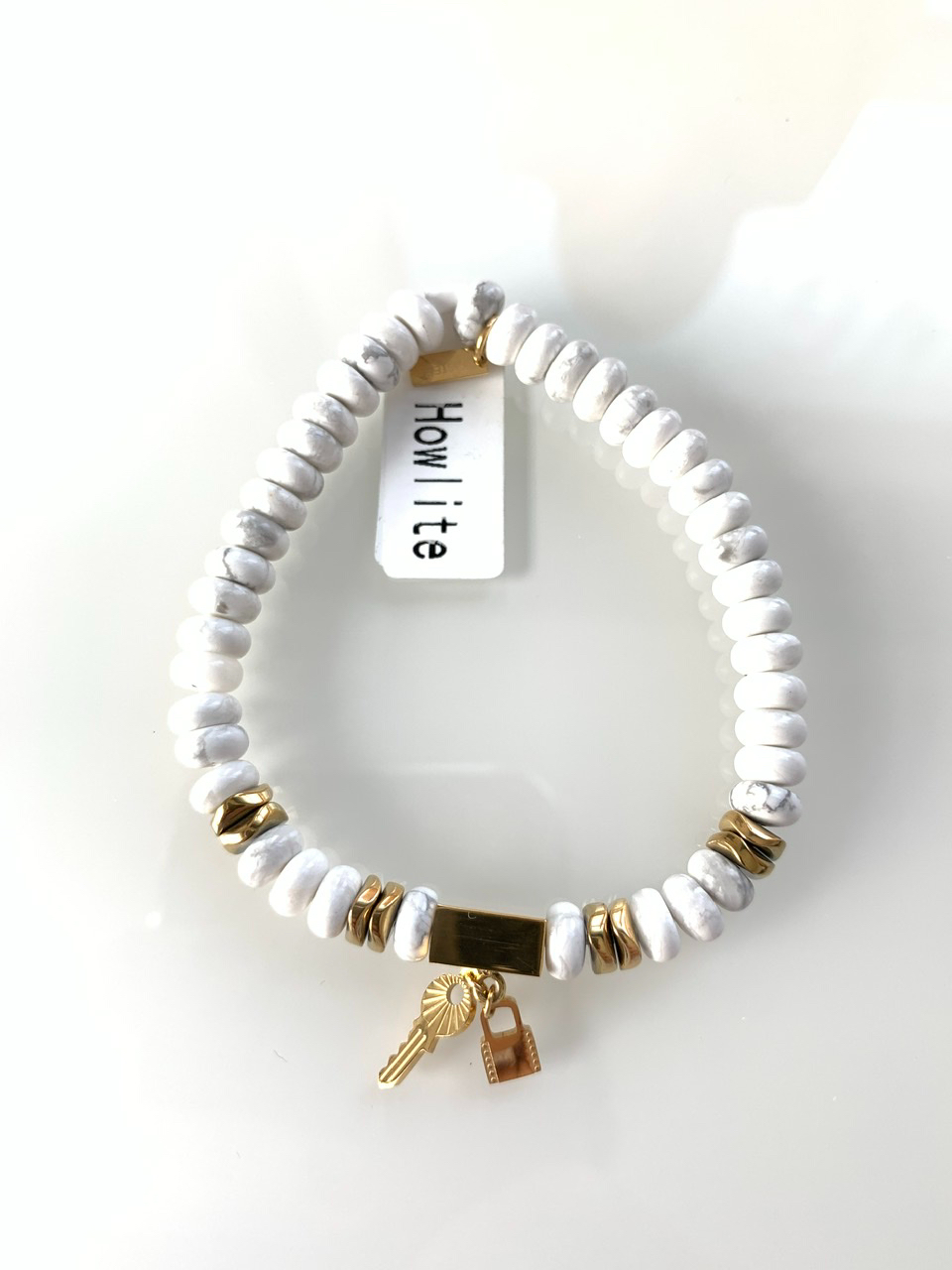 Bracelet perle blanc