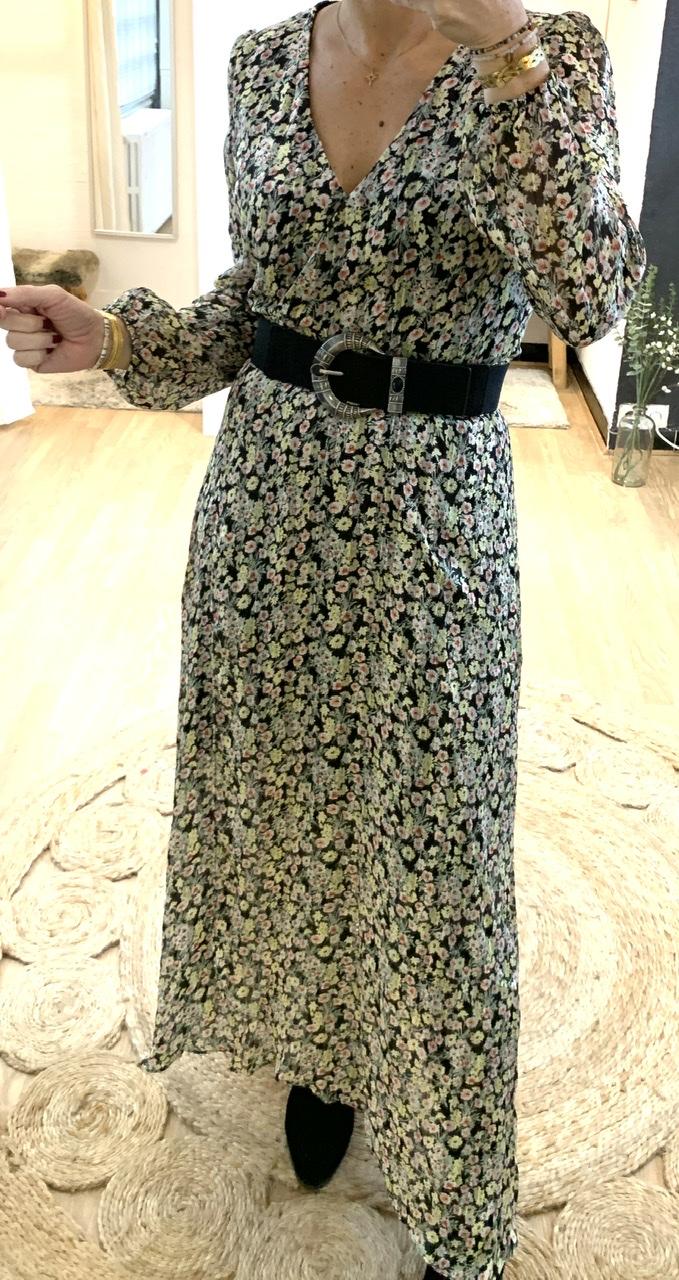 Robe longue porte feuille