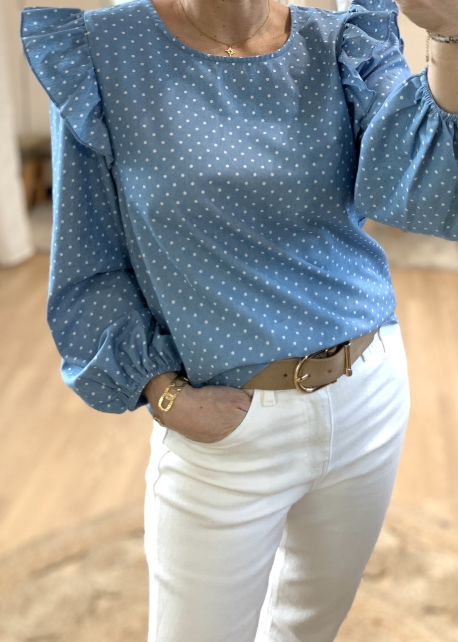 Blouse chambray