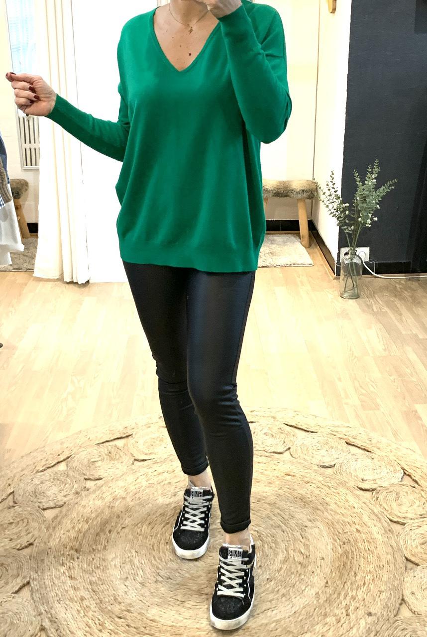 Legging simili-cuir noir