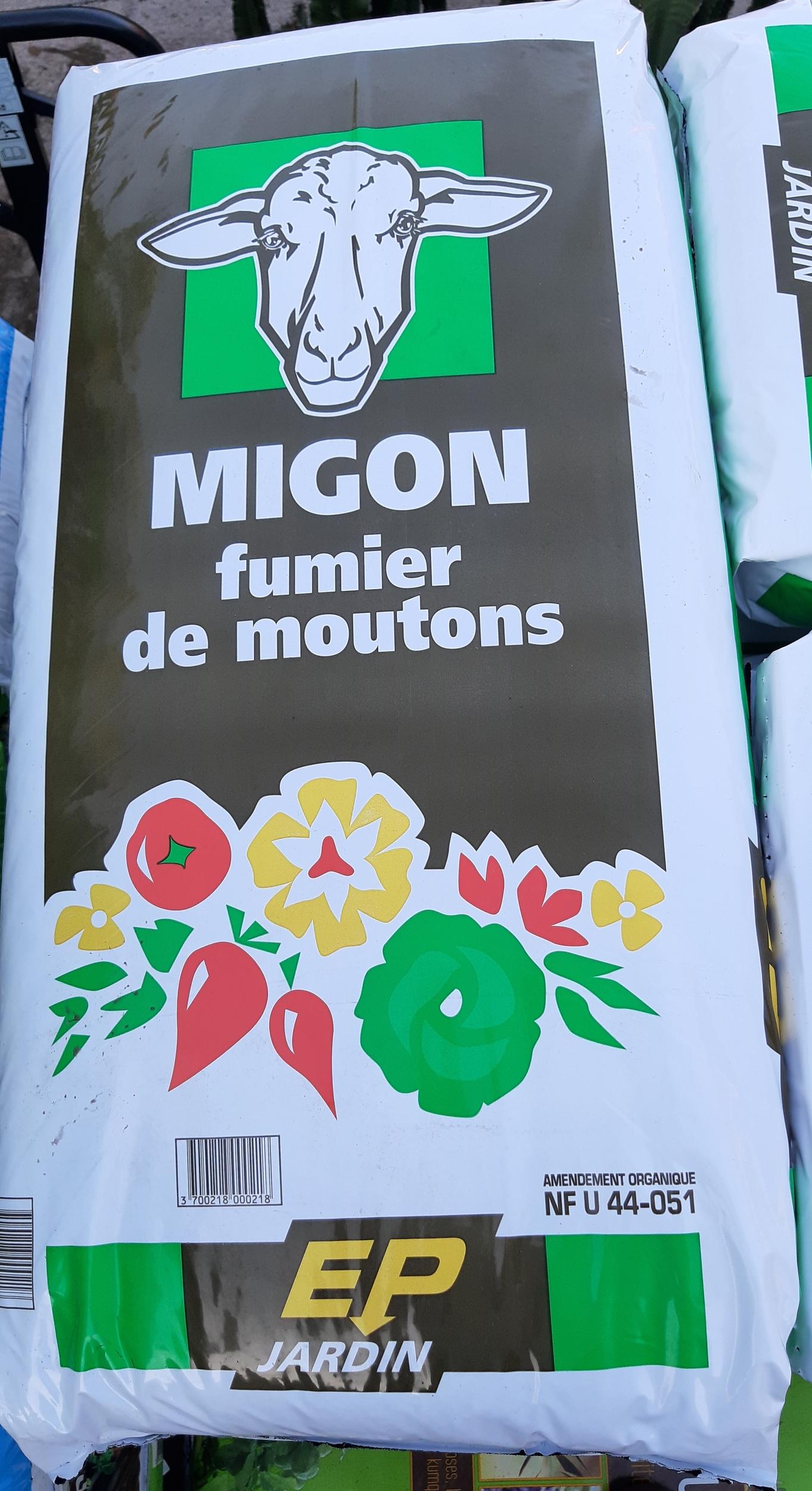 Fumier de mouton Migon 20 kg - la Jardinerie de Pessicart 06100 Nice