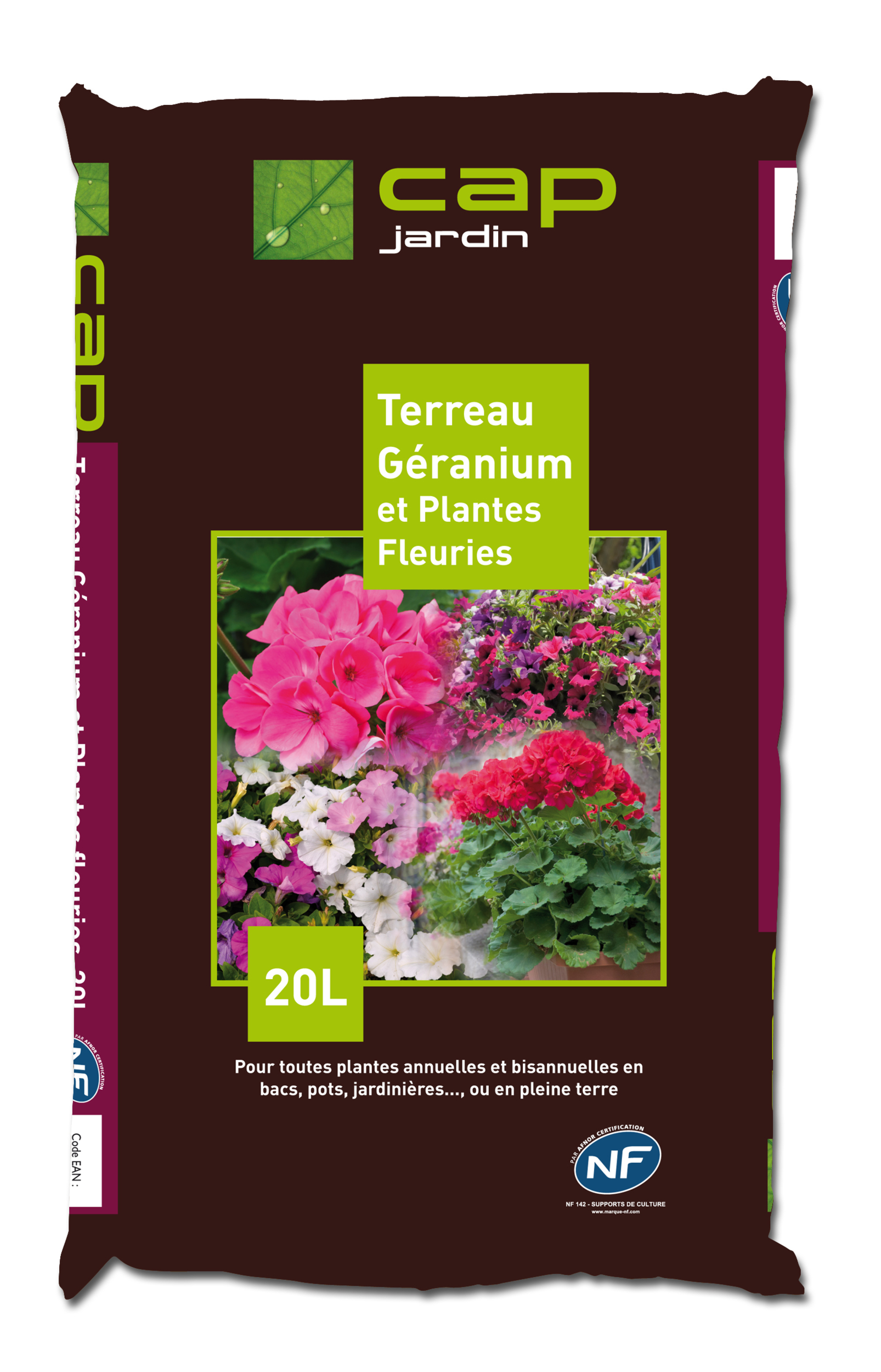 Terreau Géraniums et Plantes Fleuries NF
