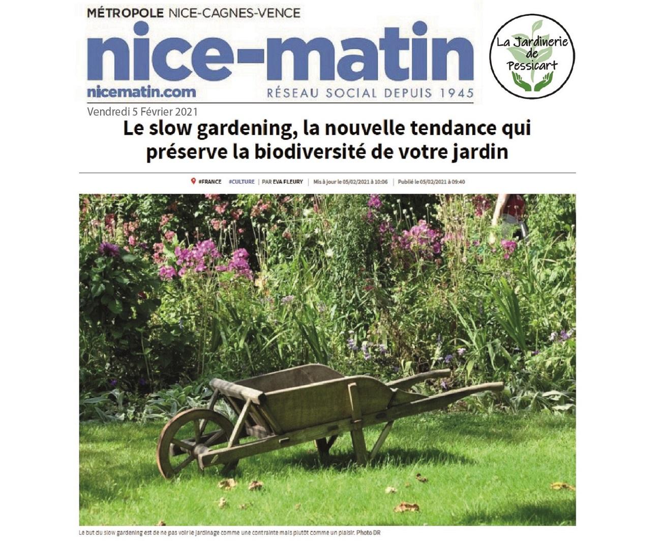 Lire l'article de Nice-Matin sur le Slow Gardening