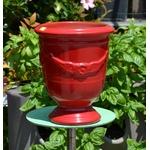 Poteries de la Madeleine - La jardinerie de pessicart - Vase Andouze n6 - D17 H22 - rouge