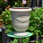 Poteries de la Madeleine - La jardinerie de pessicart - Vase Andouze n6 - D17 H22 - ivoire