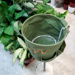Panier rond vert JAMIE - h24,5xd25cm la jardinerie de pessicart