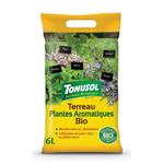 terreau plantes aromatiques  bio 6 litres - la jardinerie de pessicart 06100 nice