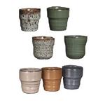 cache pot stef couleurs assorties - La jardinerie de pessicart nice - Livraison a domicile nice 06 plantes vertes terres terreaux jardinage décoration intérieur