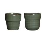 cache pot stef 2 formes vert gris  - La jardinerie de pessicart nice - Livraison a domicile nice 06 plantes vertes terres terreaux jardinage décoration intérieur