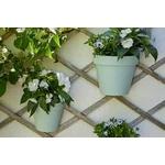 pot mural-applique  TOSCANE 25 cm de chez EDA plastique vert deau - la Jardinerie de Pessicart Nice 06100