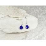boucles argent 925 lapis lazuli naturel