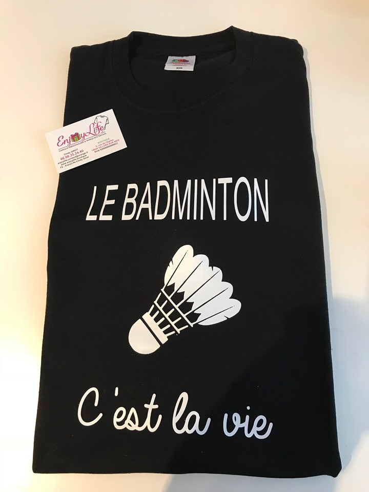 tee shirt badminton