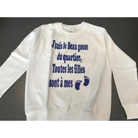 SWEAT BEAU GOSSE DU QUARTIER 7/8 ANS