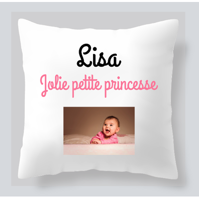 COUSSIN CARRE PHOTO + TEXTE