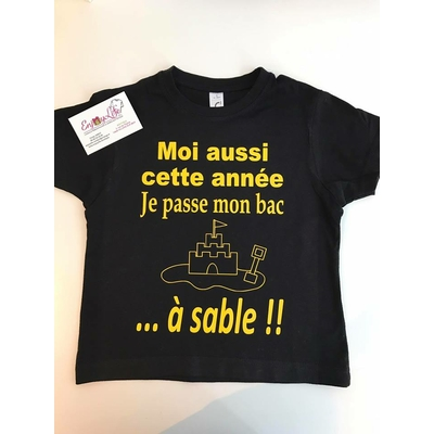 TEE SHIRT BAC A SABLE