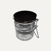 Pot à épices ronds, céramique noir