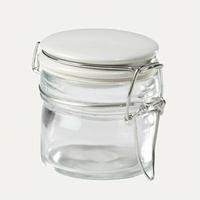 Pots à épices ronds, céramique blanc