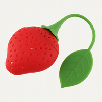 Infuseur à thé silicone fraise