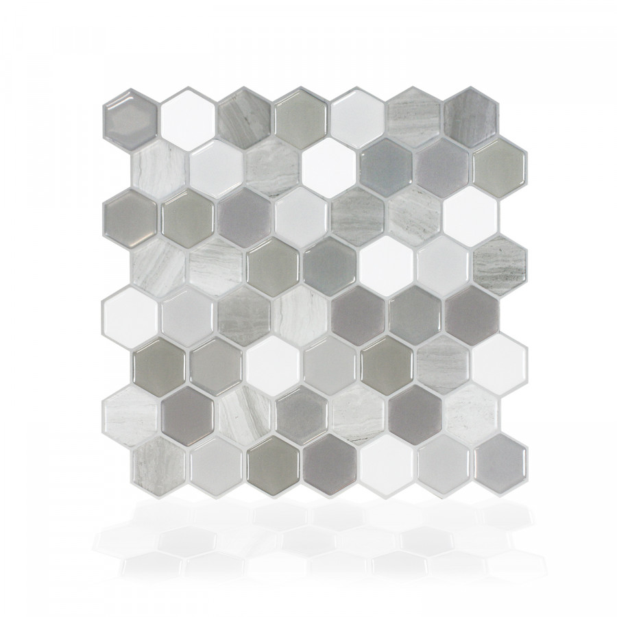 Carrelage adhésif mural 3D - Hexagone Travertino (x6)