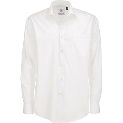 Chemise homme manches longues polyester coton
