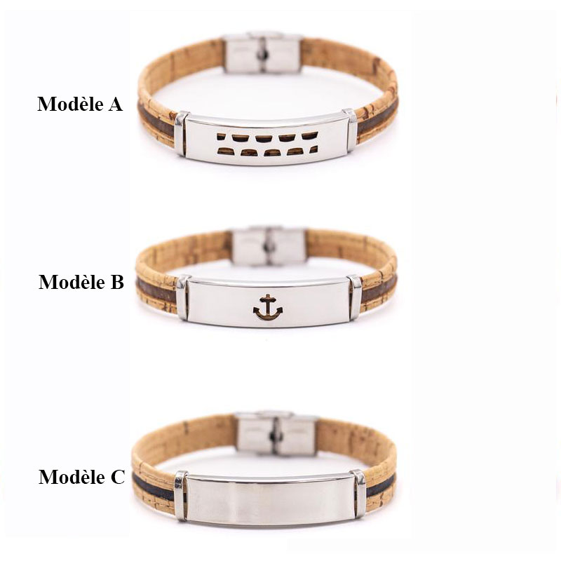 Bracelet en liège pour homme - 3 modèles au choix
