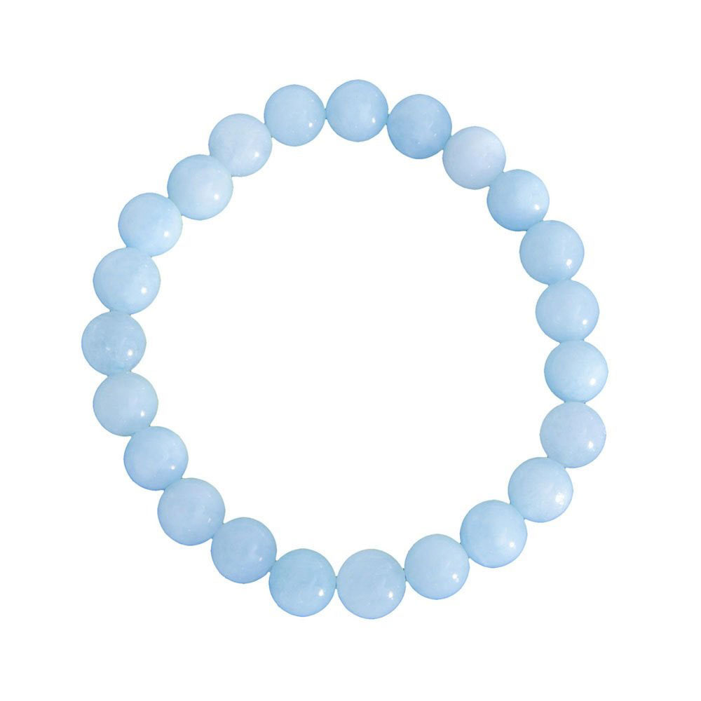 Bracelet perle Aigue marine 6, 8, 10, ou 12mm