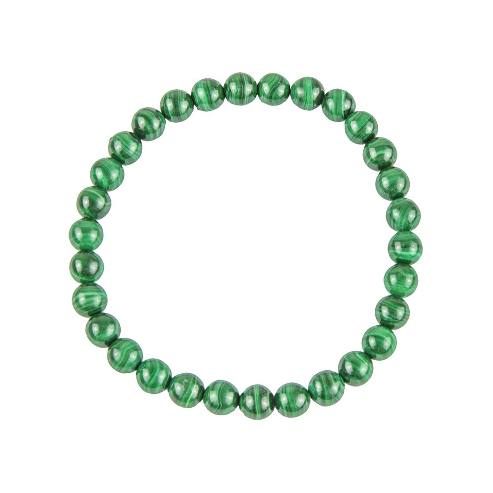 Bracelet perle Malachite 6, 8 ou 10mm