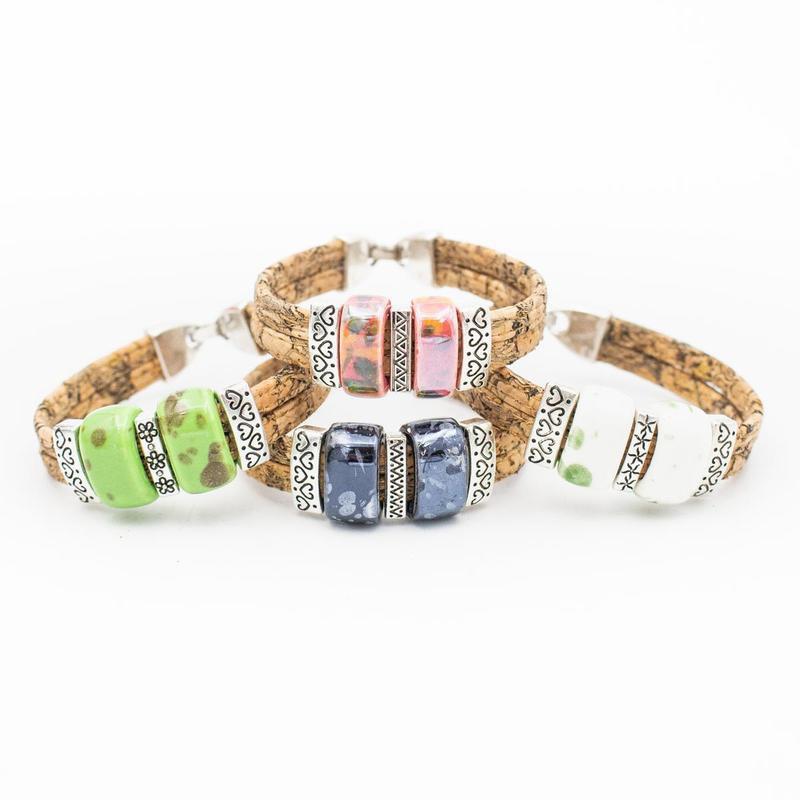 Bracelet différentes couleurs en liège du portugal