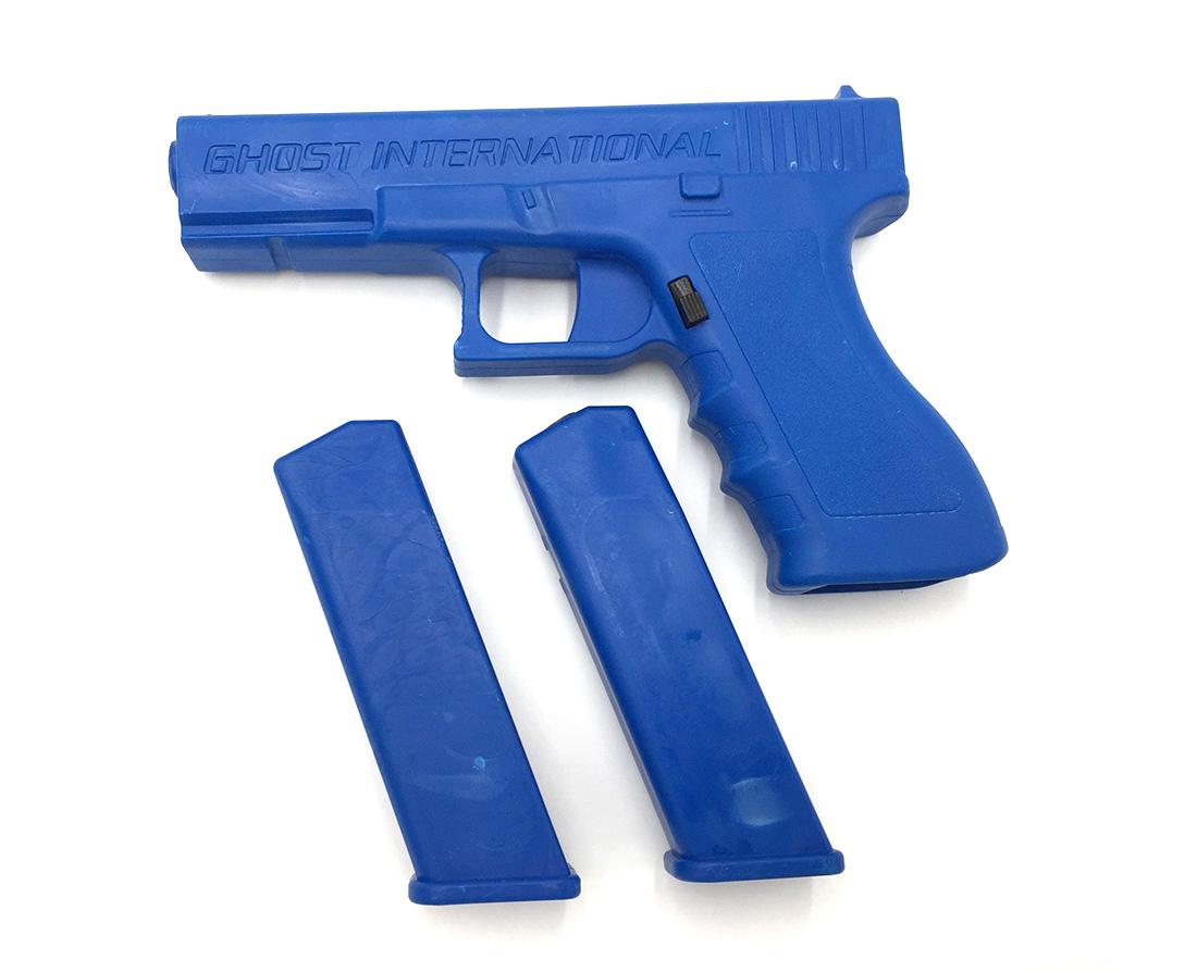 TRAINING BLUE GUN GLOCK 17 WITH MAGAZINES