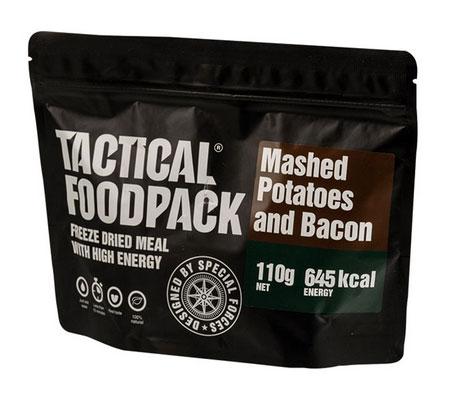 Purée de pomme de terre et Bacon en ration de survie lyophilisée